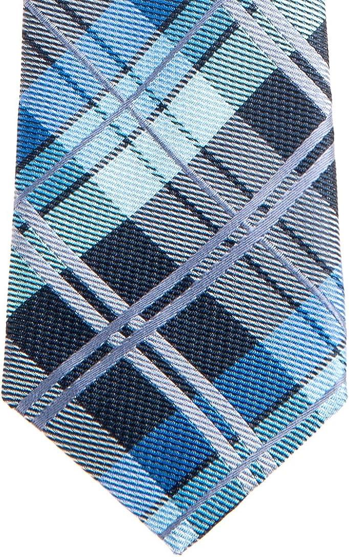 Retreez Elegant Tartan Plaid Check Woven Microfiber Pre-tied Boys Tie