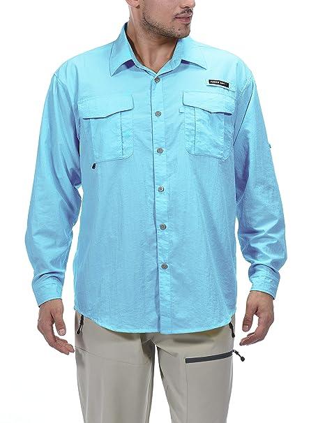 33d3f5ad Little Donkey Andy Men's UPF 50+ UV Protection Shirt, Long Sleeve Fishing  Shirt,