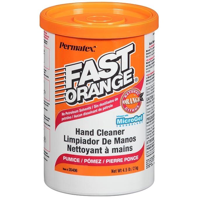 Amazon.com: Permatex 35406 Fast Orange Pumice Cream Hand Cleaner, 4.5 lbs: Automotive