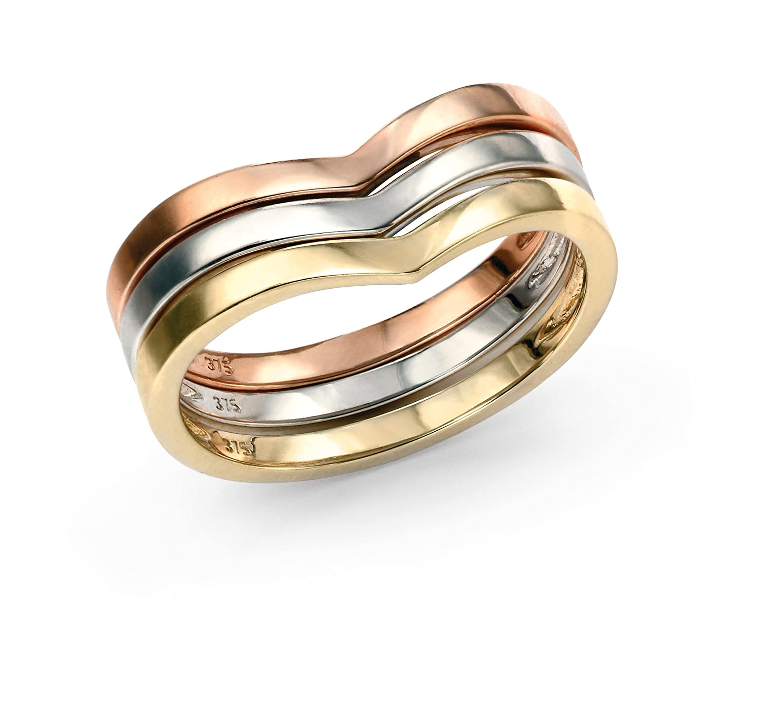 il ring listing zoom tri fullxfull wedding rings band unique wave tricolor