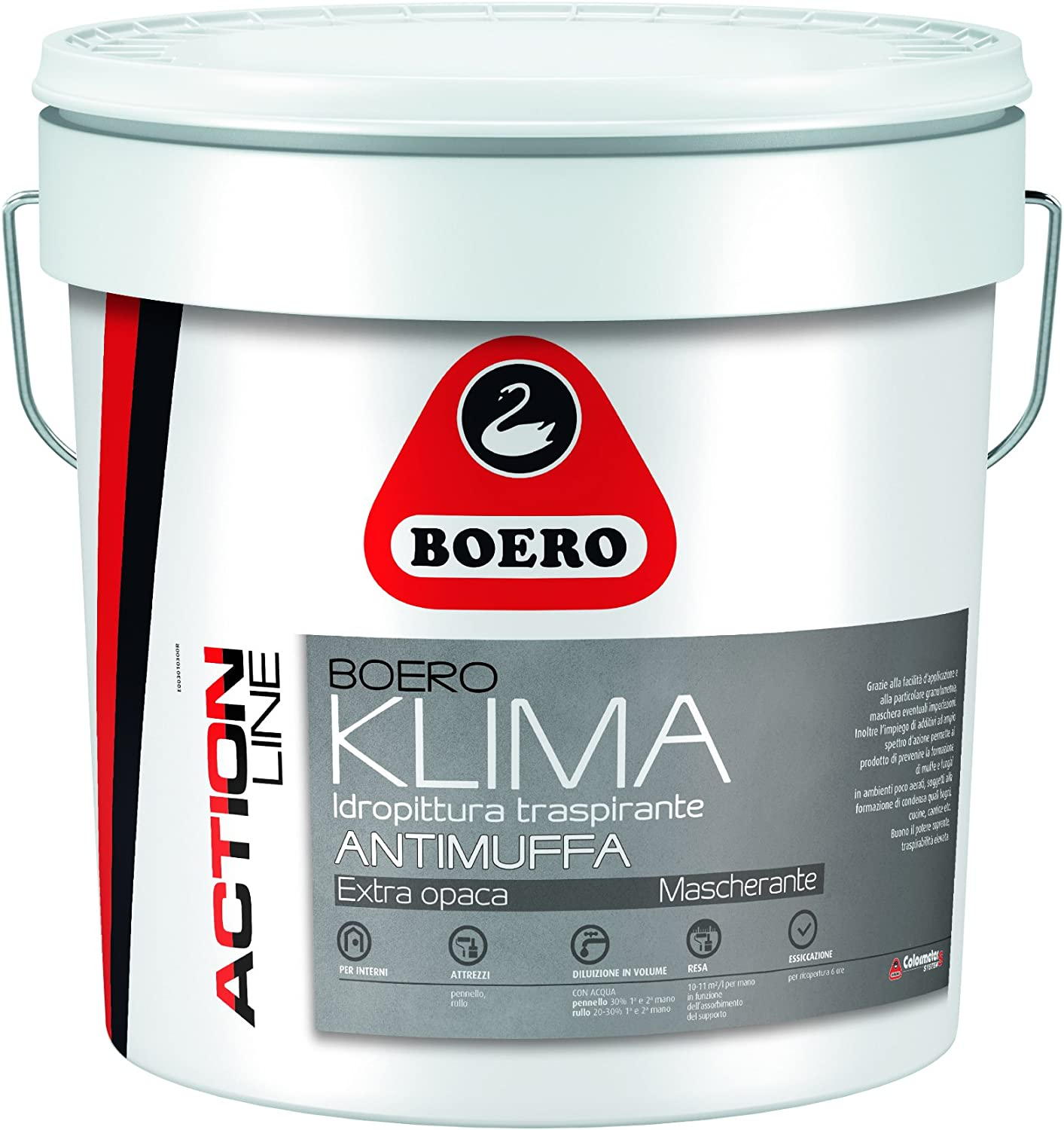 Pittura Per Interni Boero.Pittura Boeroklima Antimuffa Lt 14 Boero Amazon It Fai Da Te