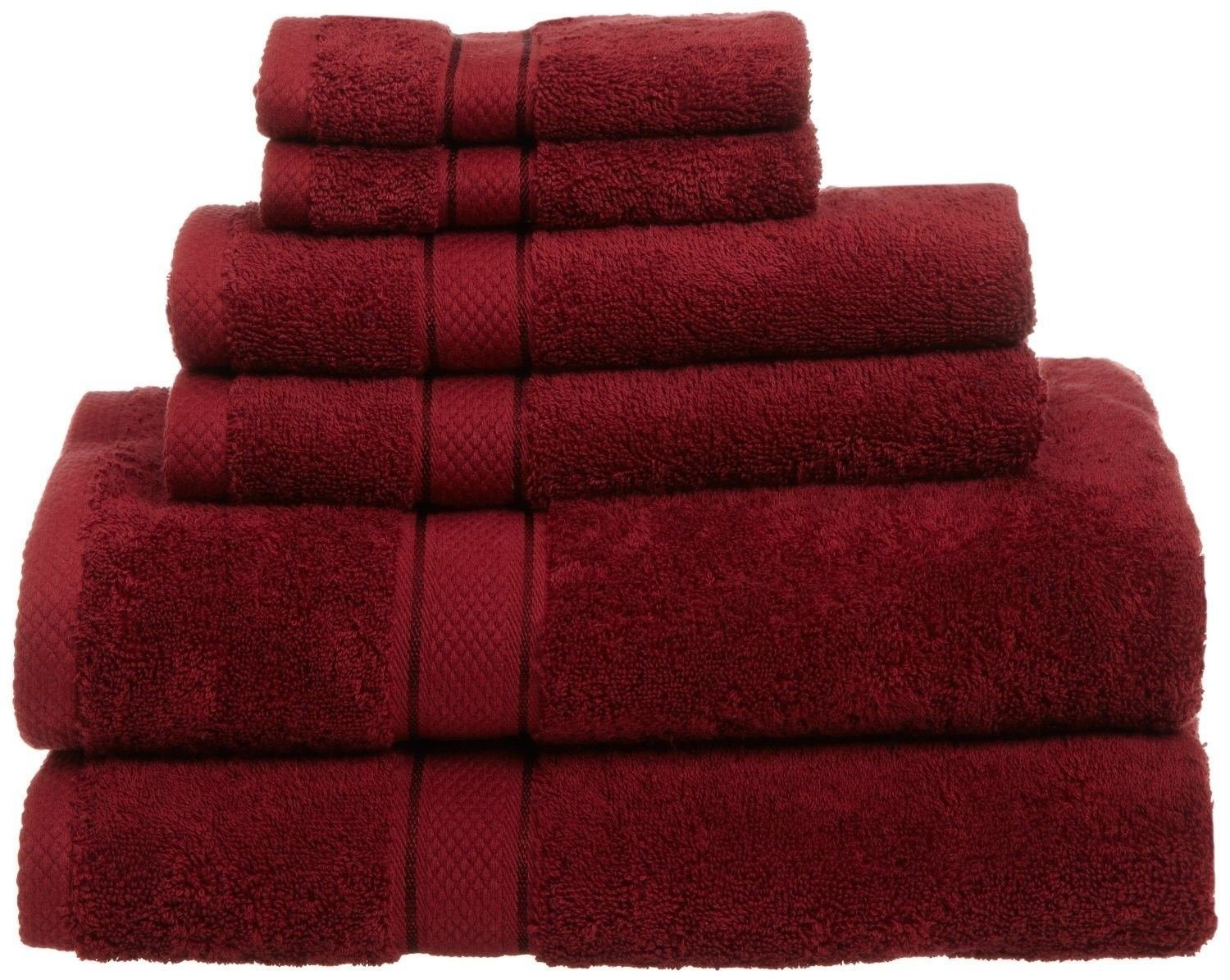 Amazon com  Cranberry NEW 6 Piece 100  Egyptian Cotton 725 Gram Bath Towel  Towels Set Different Color  Home   Kitchen. Amazon com  Cranberry NEW 6 Piece 100  Egyptian Cotton 725 Gram