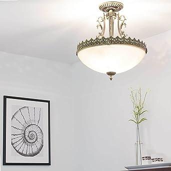 Jugendstil Lampe Deckenleuchte Rund 3x E27 Bis 60w 230v