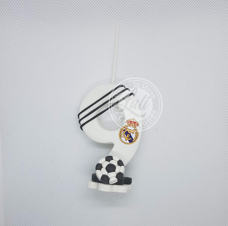 Vela decorada porcelana fría Inspirada en Tema Futbol RM ...