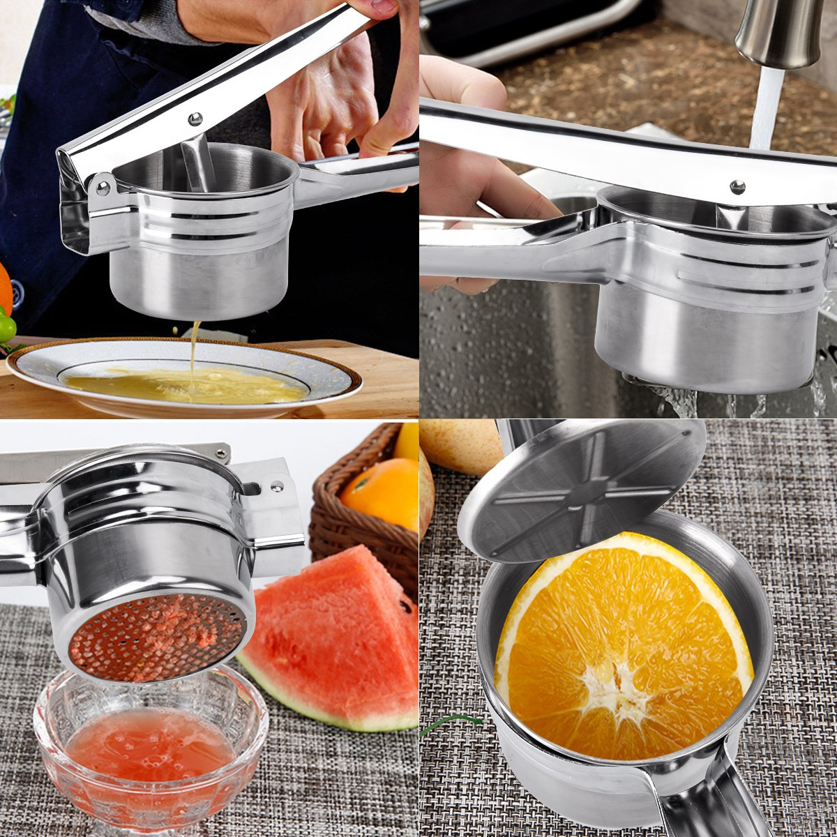 BeautyKitchen Stainless Steel Potato Ricer with 3 Interchangeable Disks by BeautyKitchen (Image #7)