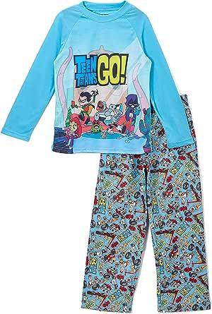 DC Comics Boy's Teen Titans Go! Chill 2 Piezas de Raglan y Pantalones Pijama Set