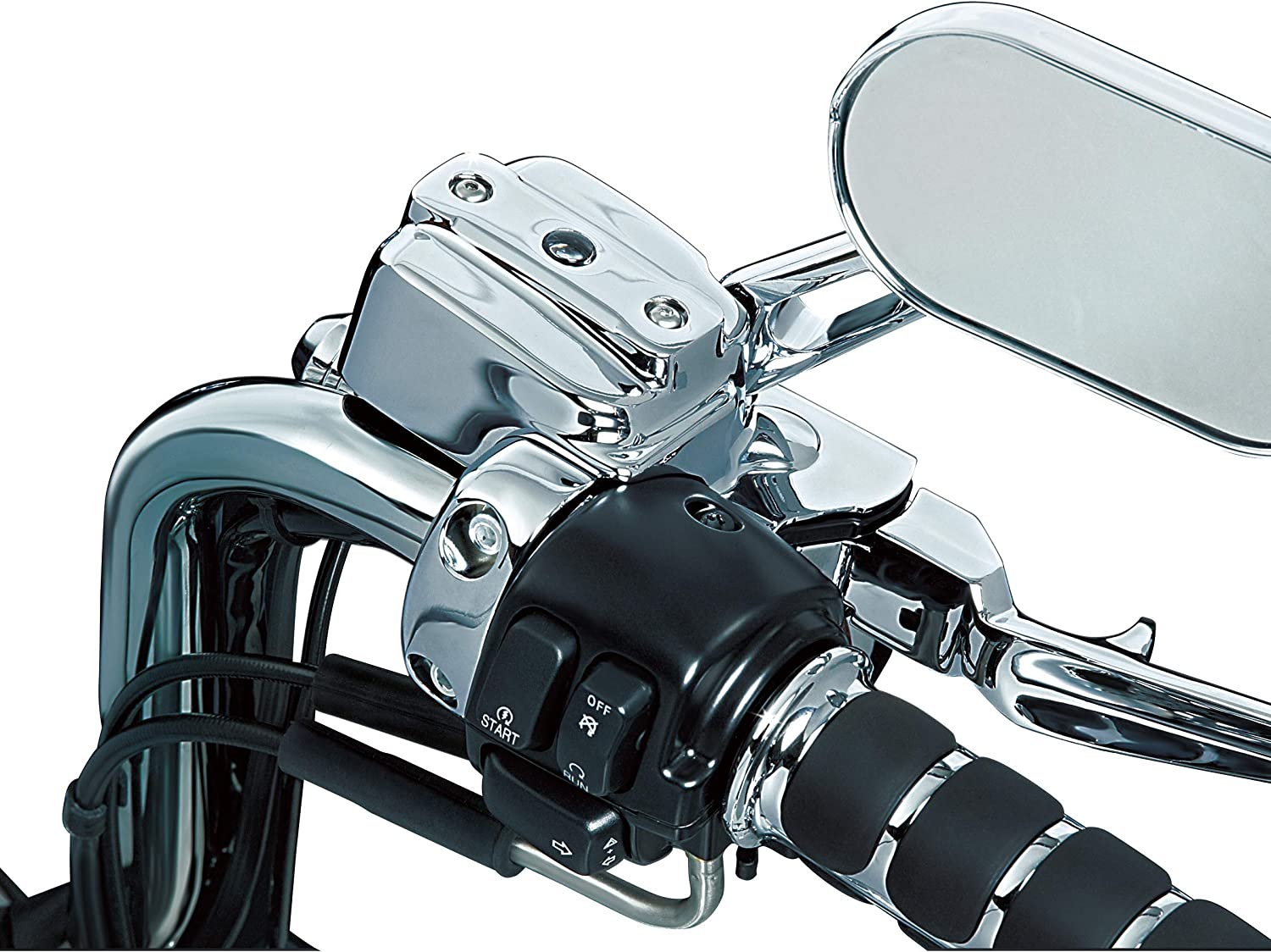Single Disc Complete Chrome Replacement Brake and Clutch Control Dress-Up Kit for 1996-2017 Harley-Davidson Motorcycles Kuryakyn 9119 Motorcycle Handlebar Accessory