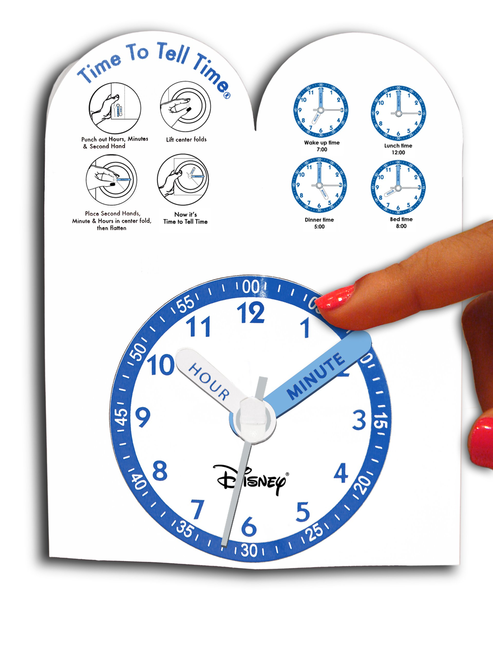 Disney Kids' W000074 ''Tinker Bell Time Teacher'' Stainless Steel Watch with Pink Leather Band by Disney (Image #3)