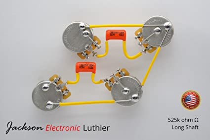 Amazon.com: Les Paul Wiring Harness Kit Sprague Orange Drop ... on jackson 3-way switches, jackson electric guitar schematic, jackson guitar wiring schematics, jca20h diagram, guitar string diagram, jackson king v schematic, jackson flying v wiring, jackson performer wiring,