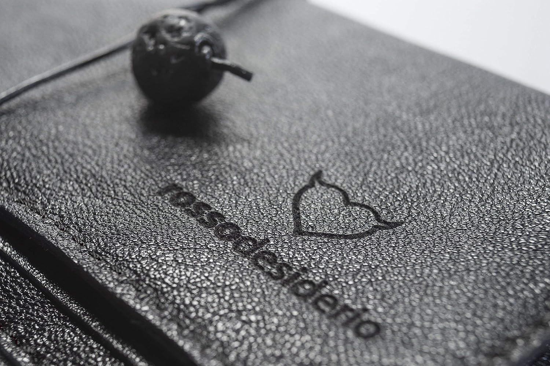 Geschenkideen Tasche Koffer italienisches handgemachtes Produkt mit italienischem Echtleder mit Gurt und Lavastein Unisex Schwarzer lederner Tabakbeutel