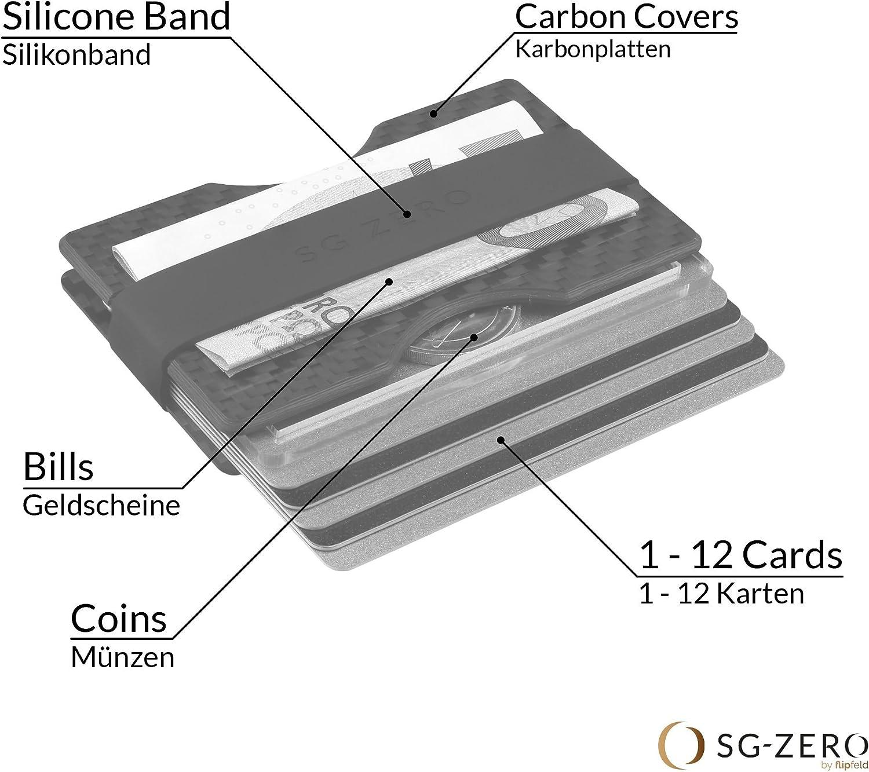 Herren Kreditkartenetui mit Geldklammer und M/ünzfach aus Aluminium Geldbeutel mit RFID Schutz f/ür 1-12 Karten Schlichtes Slim Wallet for Men