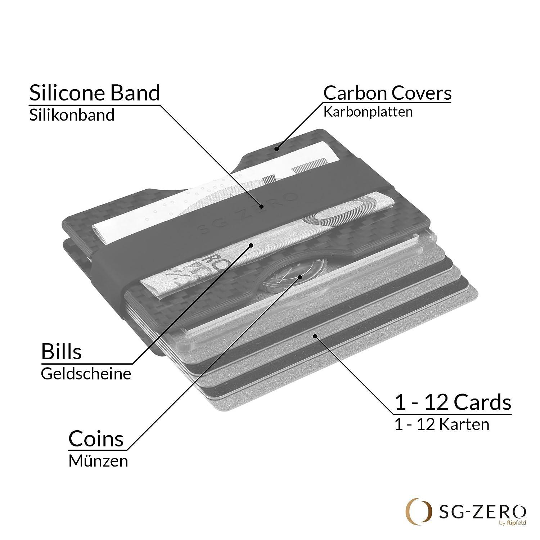 prot/ég/é de RFID /&NFC//Portefeuille avec Pince /à Billet//Porte-Carte et /étui de Carte de cr/édit Minimaliste pour Hommes /él/égants Portemonnaie Slim Fait de Fibre de Carbone de premi/ère qualit/é
