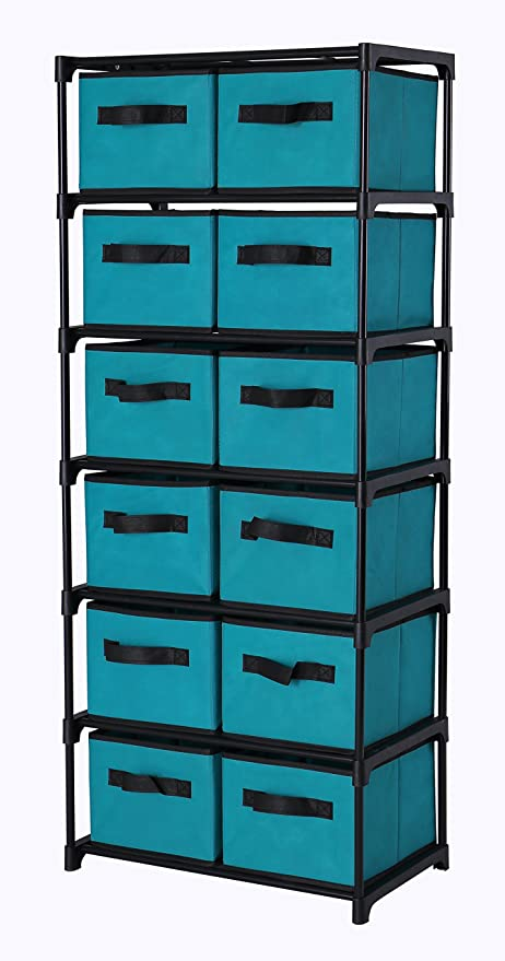 Amazon.com: Homebi Storage Chest Shelf Unit 12-Drawer Storage ...