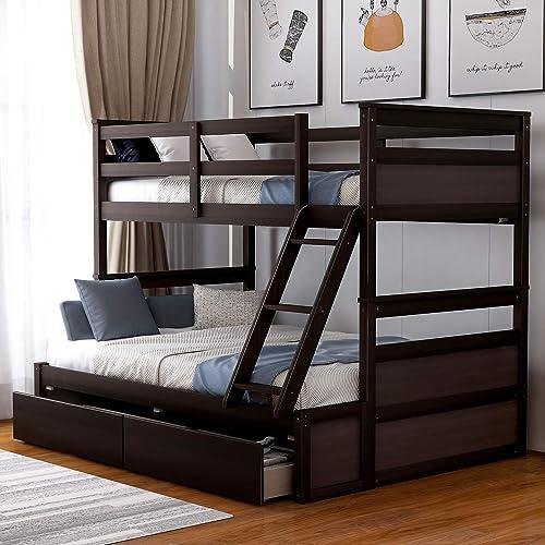 Merax Twin Over Full Bunk Bed