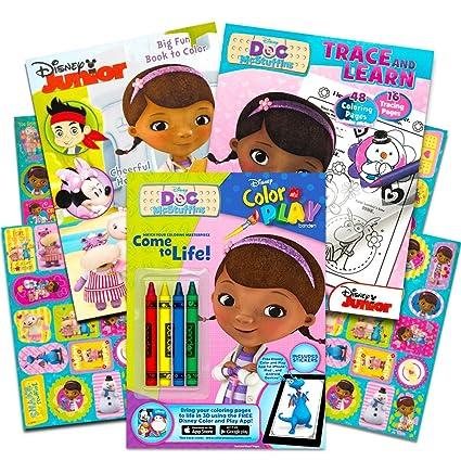 Amazon.com: Disney Junior Doc McStuffins Coloring Book Super Set ...
