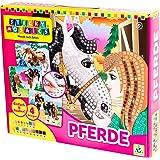 Orb Factory ORB69100 - Loisirs Créatifs - I Love Horses, 4 Projets - Sticky Mosaïque Autocollantes aux Numéros