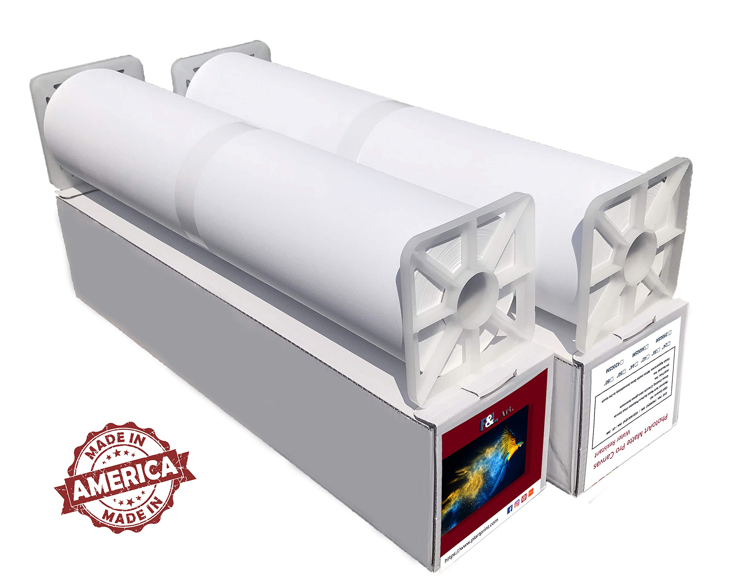 Professional Matte Canvas Roll 24''x100' 2 Rolls For Epson Canon HP inkjet printer,Surface Polyester Thick Canvas by P&L ART. (Image #5)
