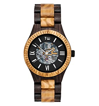 TruWood Caliber Automatic Wooden Watch with Zebrawood And All Wood Band