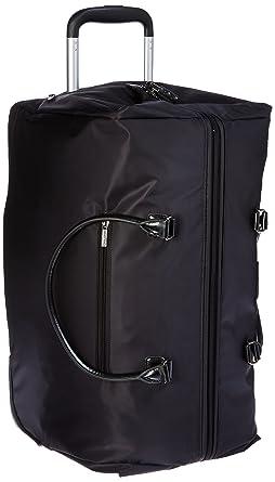 Amazon.com | Lipault Paris Lady Plume Wheeled Weekend Bag, Black ...