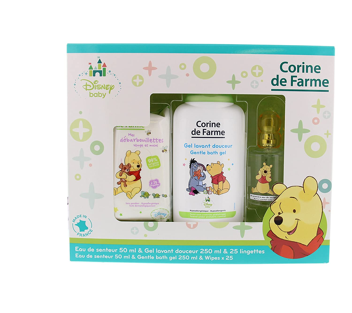 Corine di Farme Set Winnie the Pooh Salviette + Gel Lavant + Acqua di Senteur Disney Baby 50 ml Corine de Farme 096355