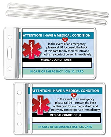 Amazon Com Medical Condition Ice Alert In Case Of Emergency I D