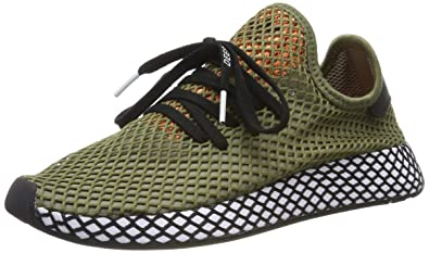sneakers for cheap genuine shoes website for discount adidas Herren Deerupt Runner Fitnessschuhe, kaki Clair/Noir/orange VIF, EU