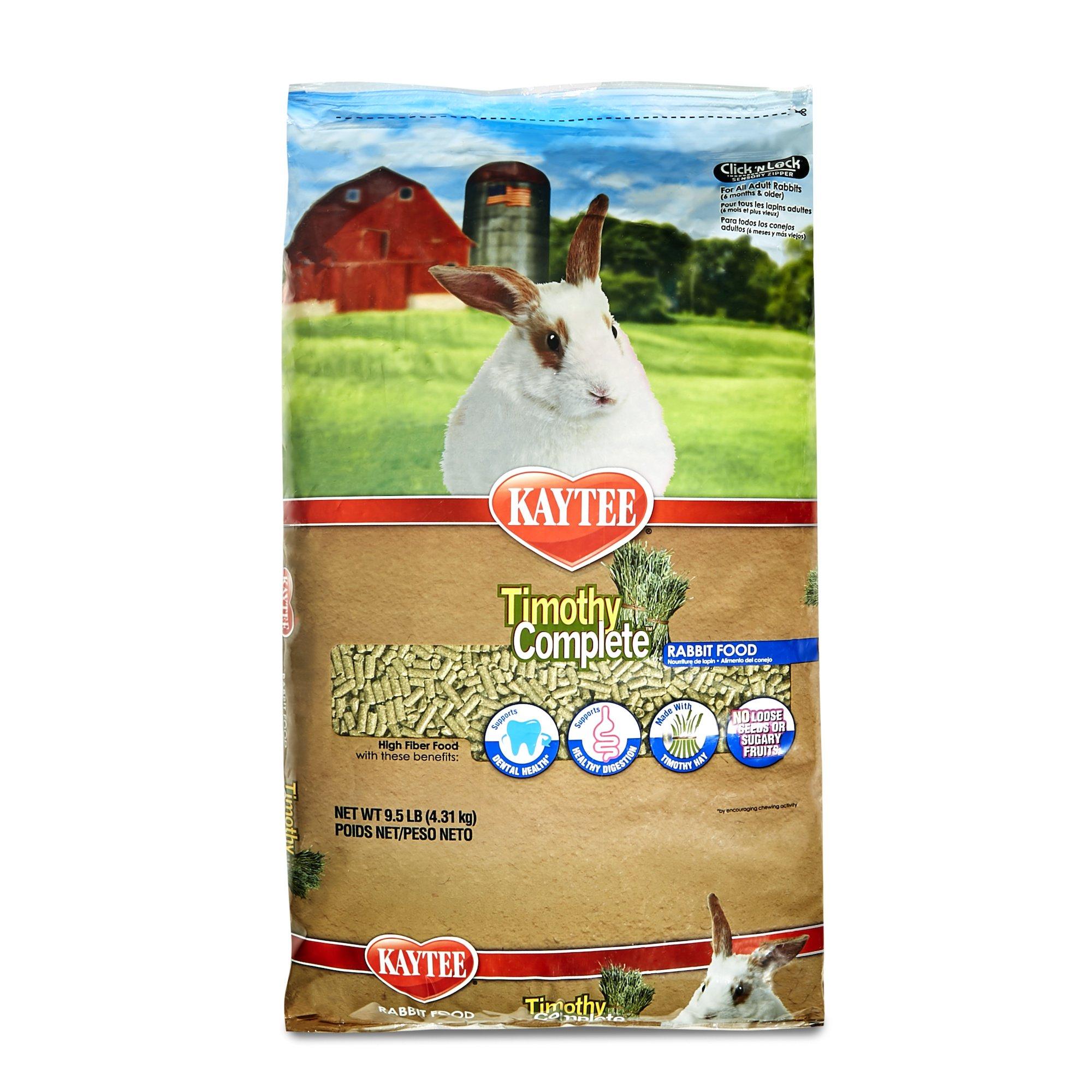 Kaytee Timothy Hay Complete Rabbit Food, 9.5-lb bag