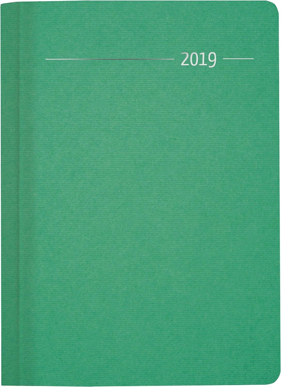 """Agenda Giornaliera Silk Line 2019 """"Smeraldo"""""""" 15X21 Cm"""