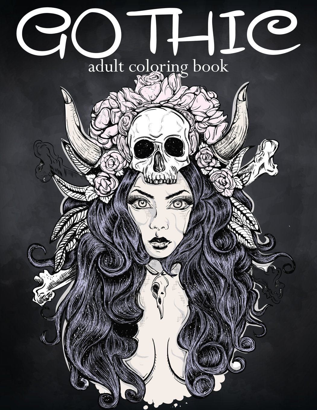 amazoncom gothic coloring book coloring book for adults featuring sugar skull coloring page fantasy coloring sexy gothic fashion adult coloring - Gothic Coloring Book