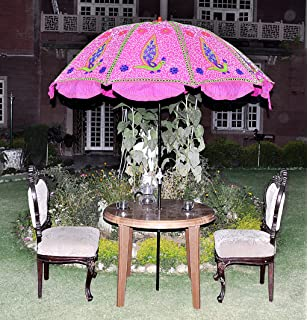 Pleasant Designer Indian Large Garden Parasol Outdoor Umbrella Amazonco  With Excellent Uml Lalhaveli Decorative Embroidered Garden Sun Umbrella Large Parasol  Pink Color  X  Cm With Astounding Washington Garden Club Also Garden Centre Woodford In Addition Garden Tent Argos And Gardening Which Magazine As Well As Wooden Garden Benches Uk Additionally In The Night Garden Logo From Amazoncouk With   Excellent Designer Indian Large Garden Parasol Outdoor Umbrella Amazonco  With Astounding Uml Lalhaveli Decorative Embroidered Garden Sun Umbrella Large Parasol  Pink Color  X  Cm And Pleasant Washington Garden Club Also Garden Centre Woodford In Addition Garden Tent Argos From Amazoncouk