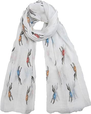 Wrap Premium Quality Labrador Print Frayed Scarf// Shawl Pashmina 4 Colours