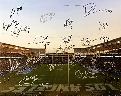 official photos 5c368 8a183 2018 L.A. CHARGERS AUTOGRAPHED Team SIGNED 16 x 20 Photo ...