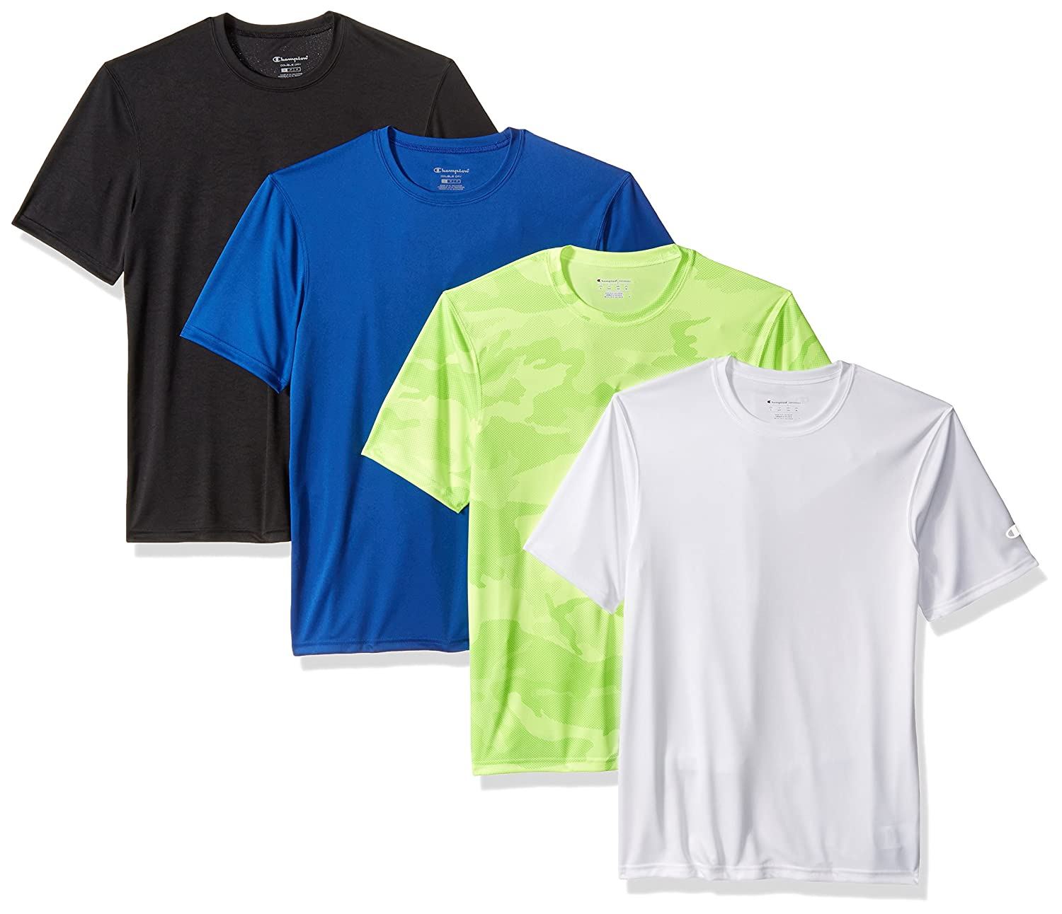 4691f63ac Champion Men's Double Dry T-Shirt (Pack of 4) at Amazon Men's Clothing store :
