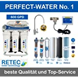 Osmoseanlage 600 GPD Perfect Water No. 1 Ultimate PLUS PRO 2017 direct flow kein Tank nötig Umkehrosmosewasserfilter Wasserfilter Trinkwasser Umkehrosmose Reverse Osmosis