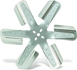"Flex-a-lite (2017) 17"" 6-Blade Belt Driven Flex Fan, Silver"