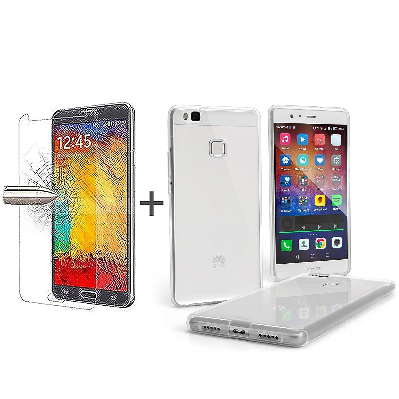 TBOC Pack: Funda de Gel TPU Transparente + Protector Pantalla Vidrio Templado para Huawei P9 Lite: Amazon.es: Electrónica