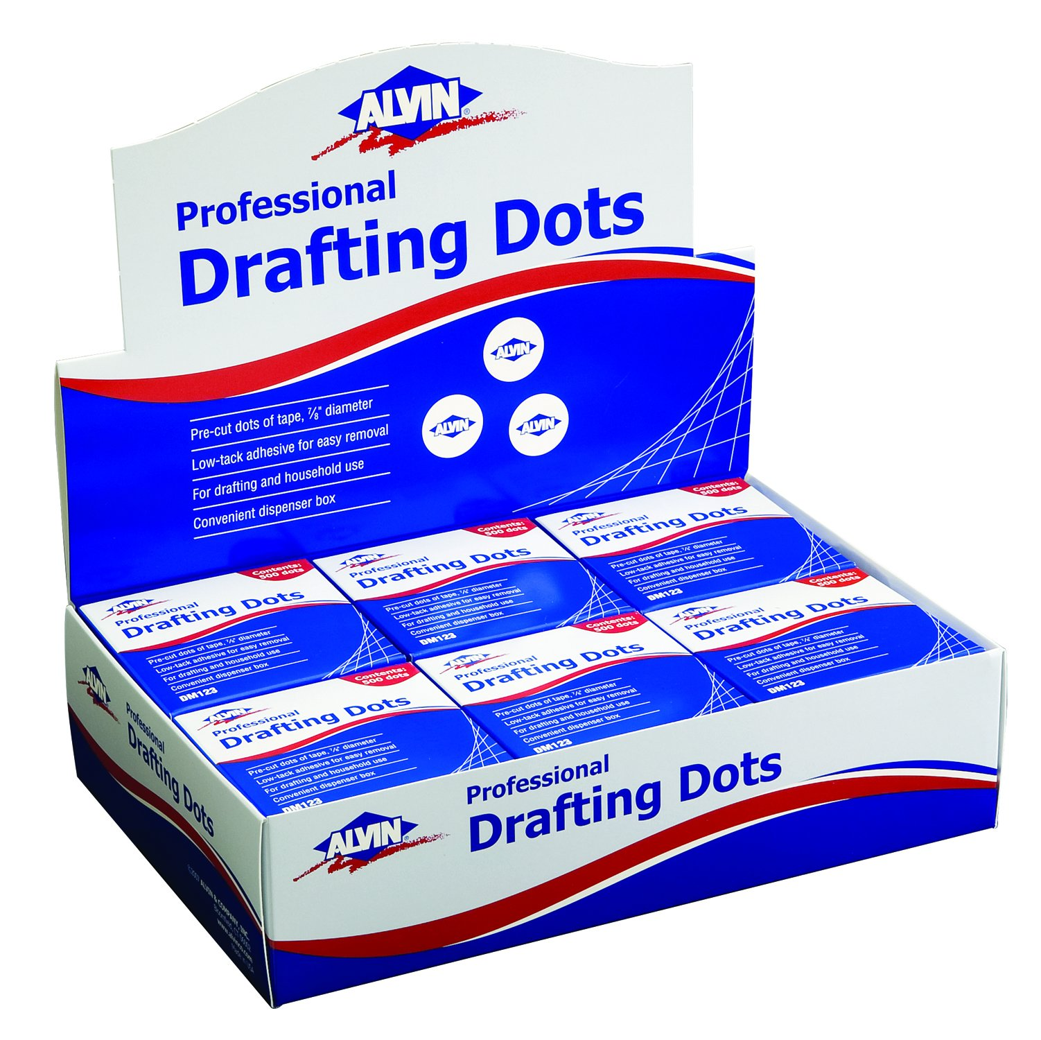 Drafting DOTS 12 Rolls/DISP BX by Alvin