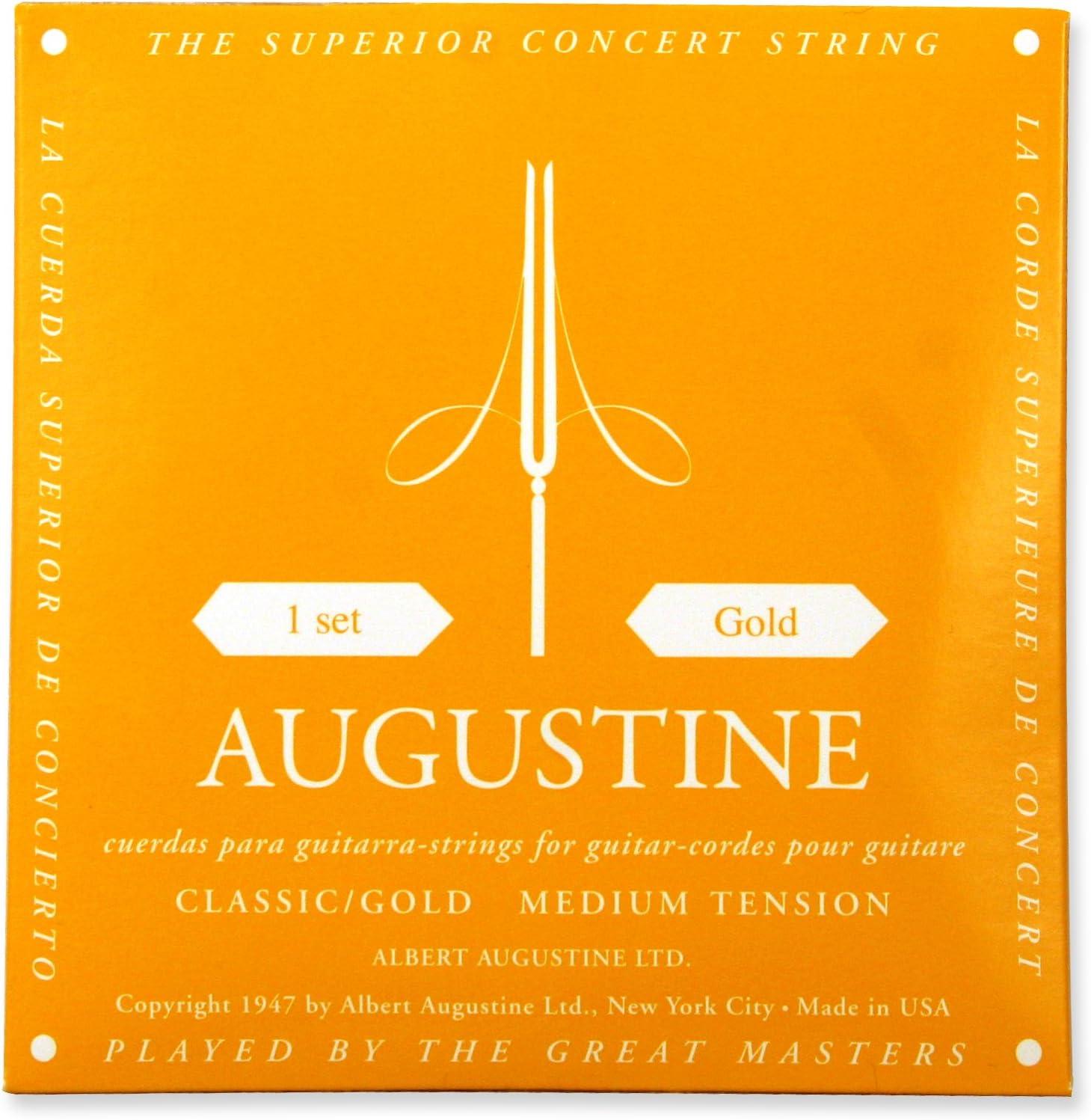Augustine Cuerdas para Guitarra Clásica, Oro, Juego, Tensión Medio: Amazon.es: Instrumentos musicales
