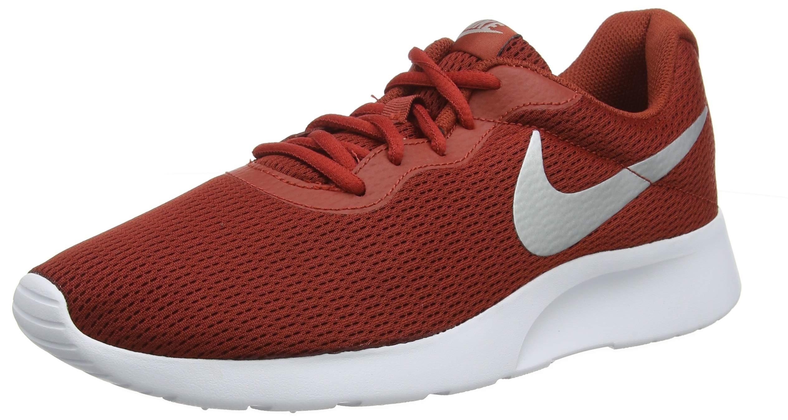 Nike Men's Tanjun, Dune RED/Metallic Silver-White (7 M US, Dune RED/Metallic Silver-White)