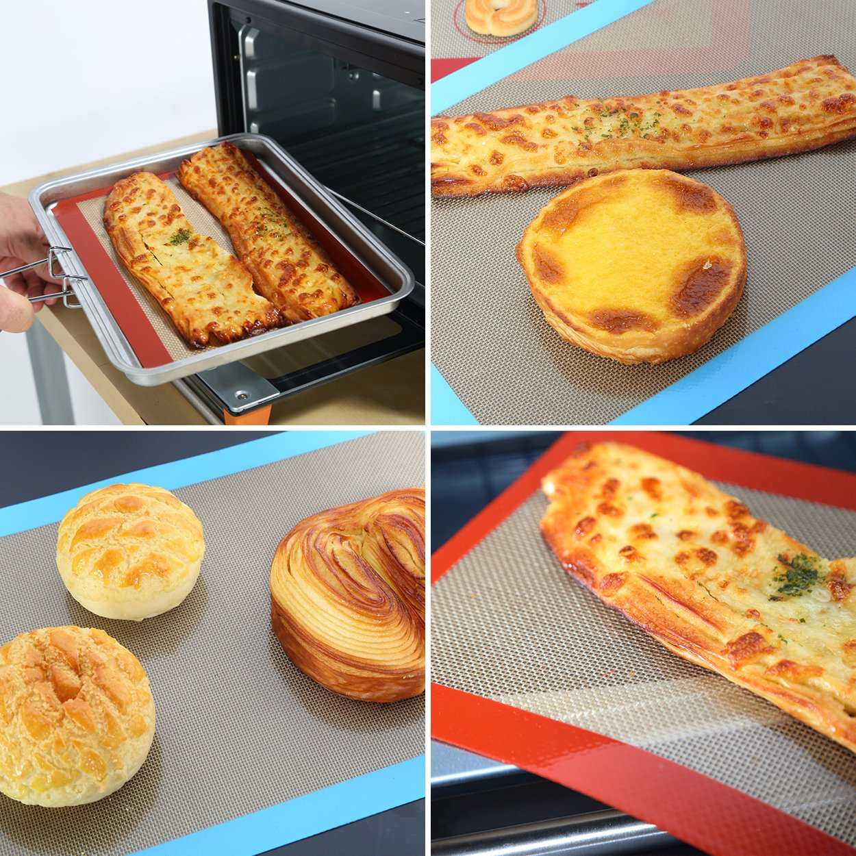 Alimat Plus Silicon Baking mat Cookie Sheet Non Stick Dishwasher Safe Reusable by Alimat Plus (Image #5)