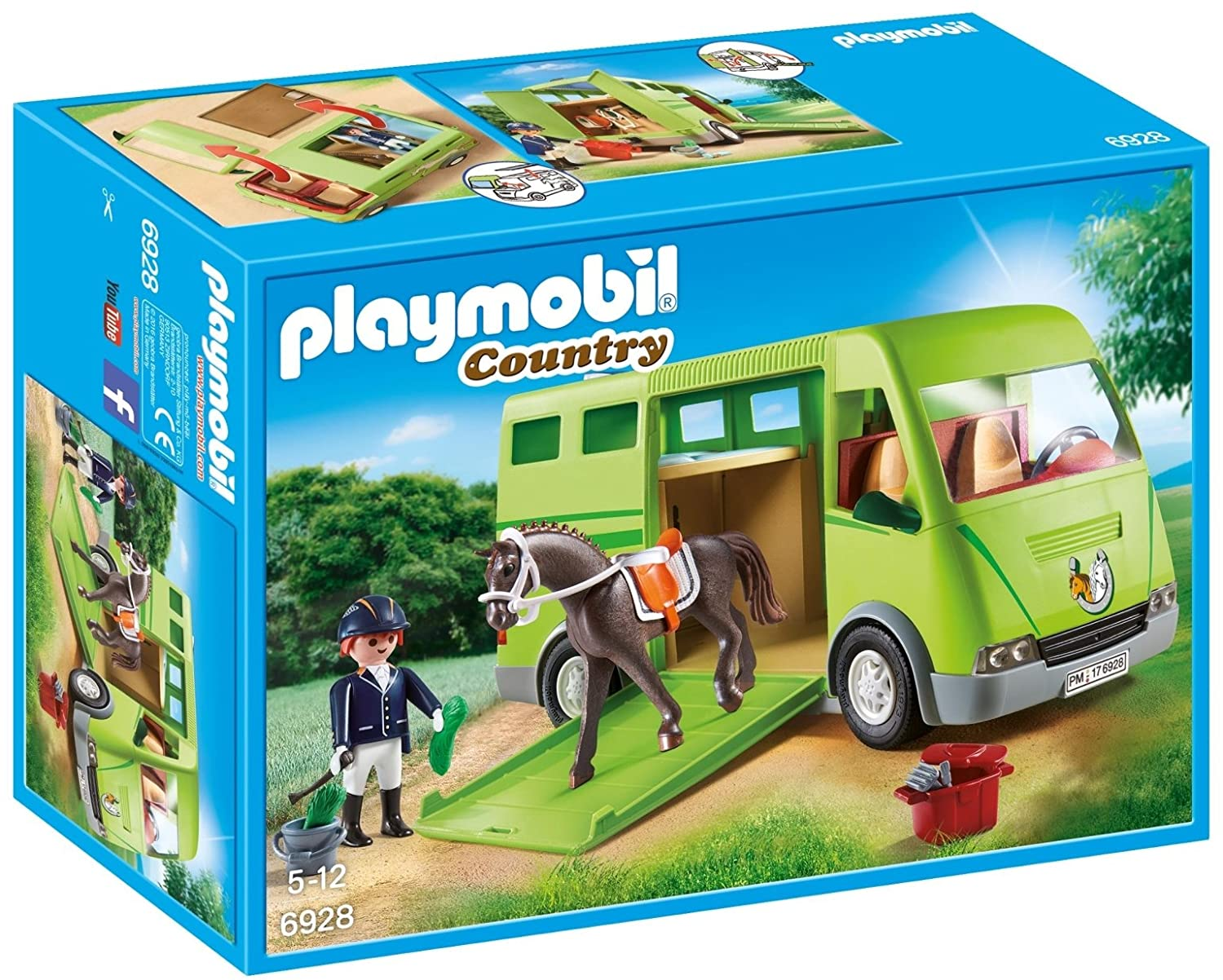Playmobil 6928 Country Horse Box with Opening Side Door
