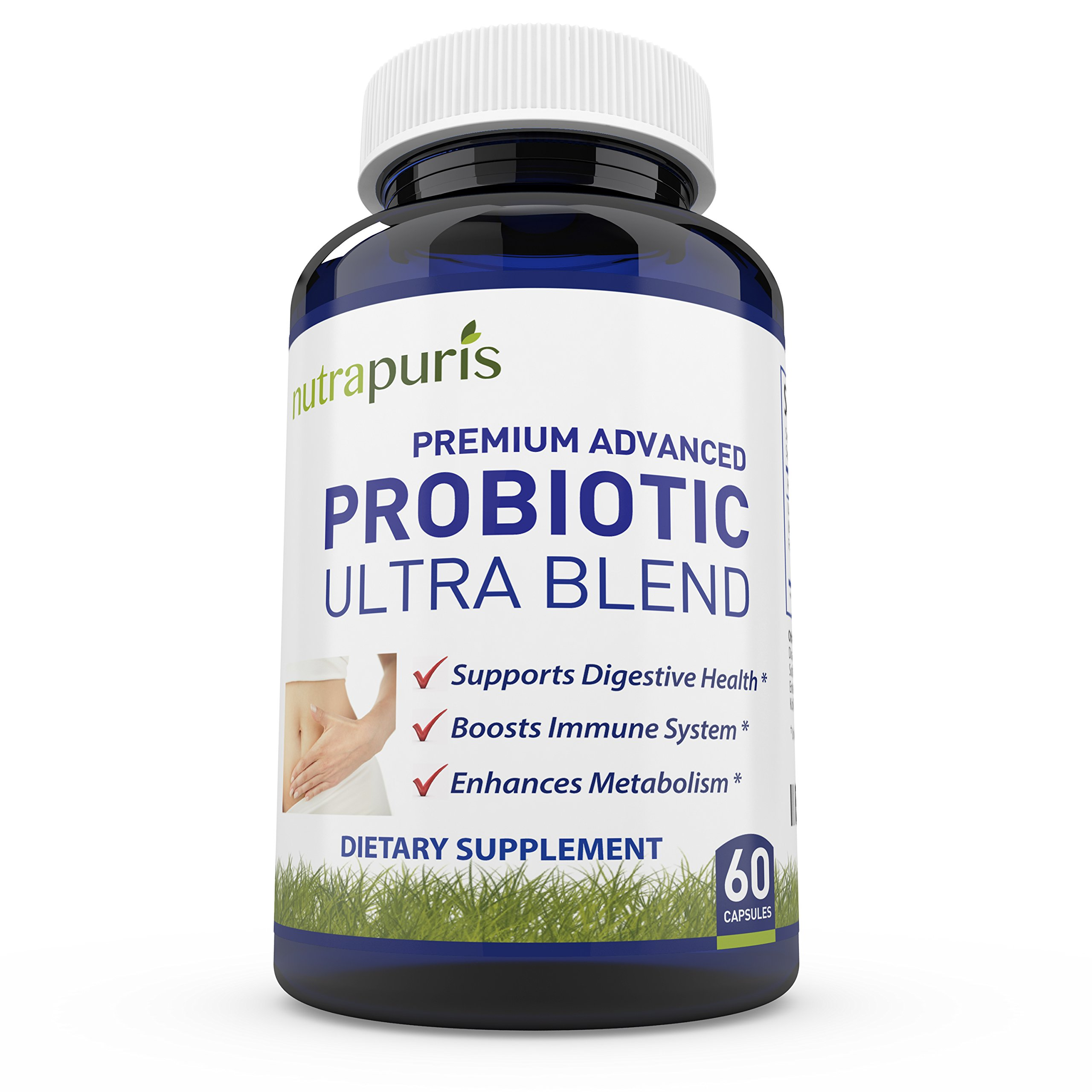 Best Patented Probiotic Ultra Blend – 15 Billion CFU/g – For Digestion Issues - Diarrhea, Irritable Bowel Syndrome IBS, and Bloating – Dairy Free FOS for Women and Men - No Refrigeration Needed