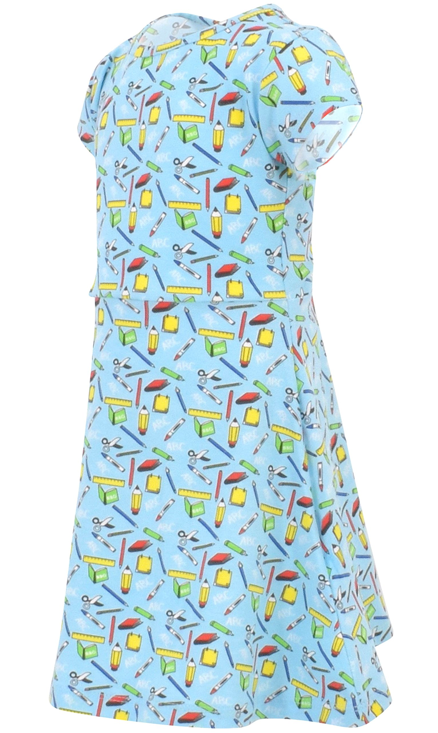 Unique Baby Girls Back to School Dress (6, Blue) by Unique Baby (Image #3)