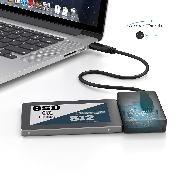 SATA 2,5 pouces, SSD, HDD, 2TB KabelDirekt USB 3.0 Adaptateur SATA