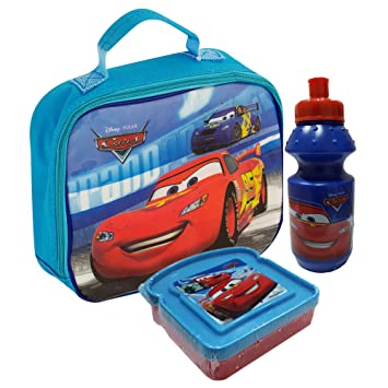 Cars Lunch Bag With Water Bottle Snack Box