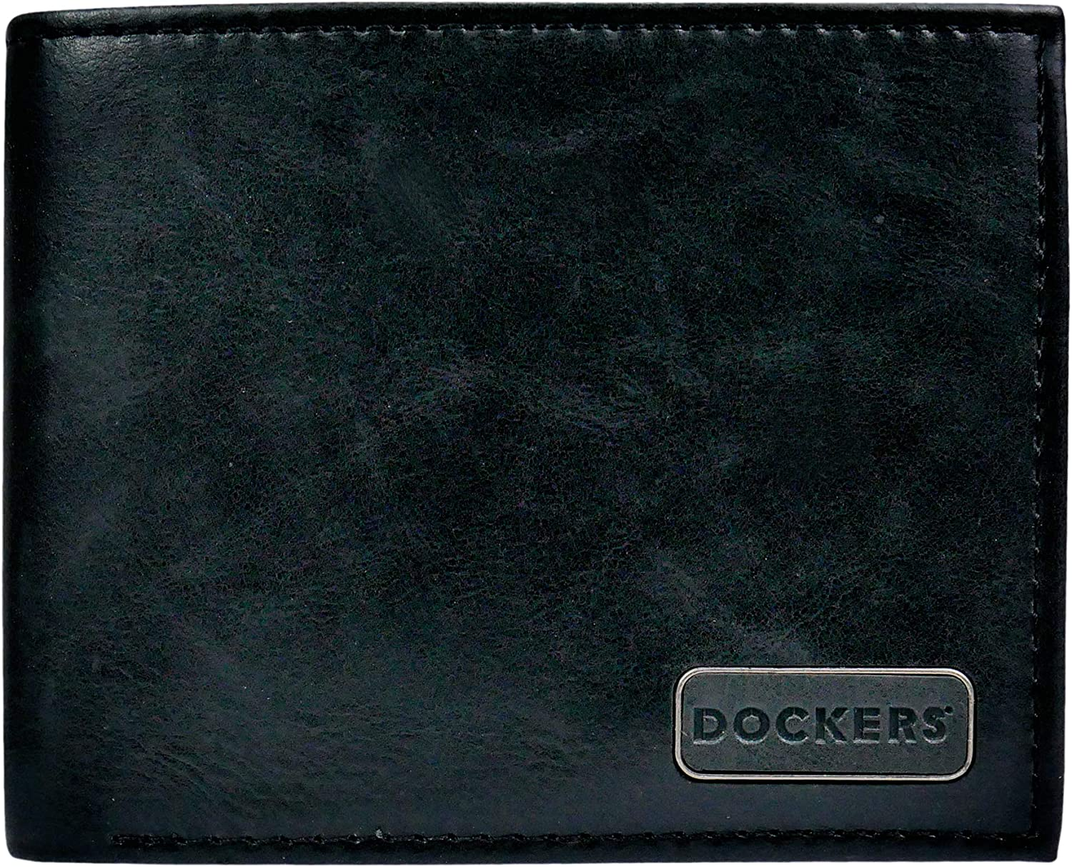 Thin Slimfold Extra Capacity Dockers Mens Bifold Leather Wallet
