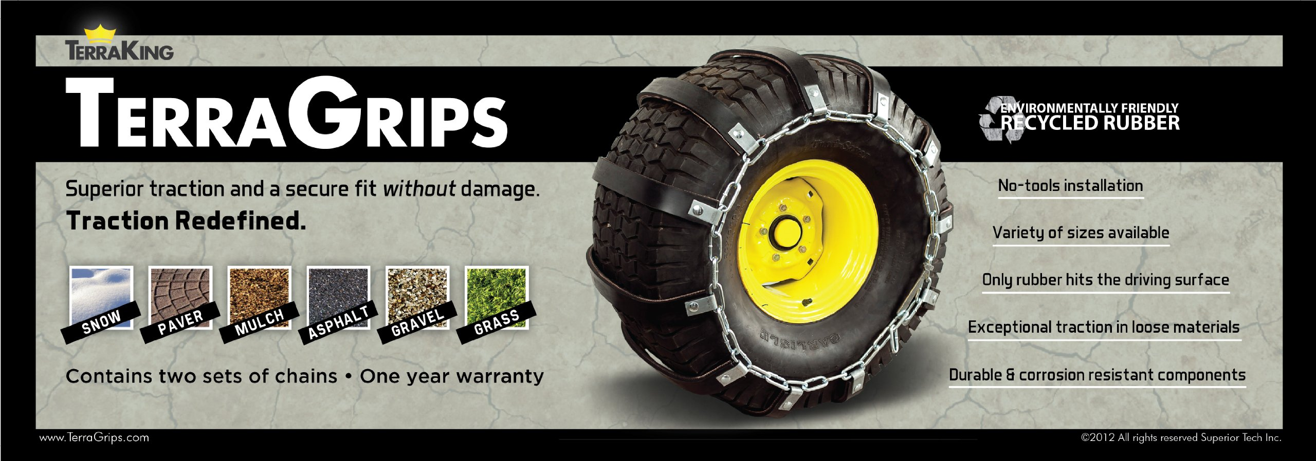 TerraGrips Tire Chains 24x12-12 [ST90009] by TerraKing (Image #2)
