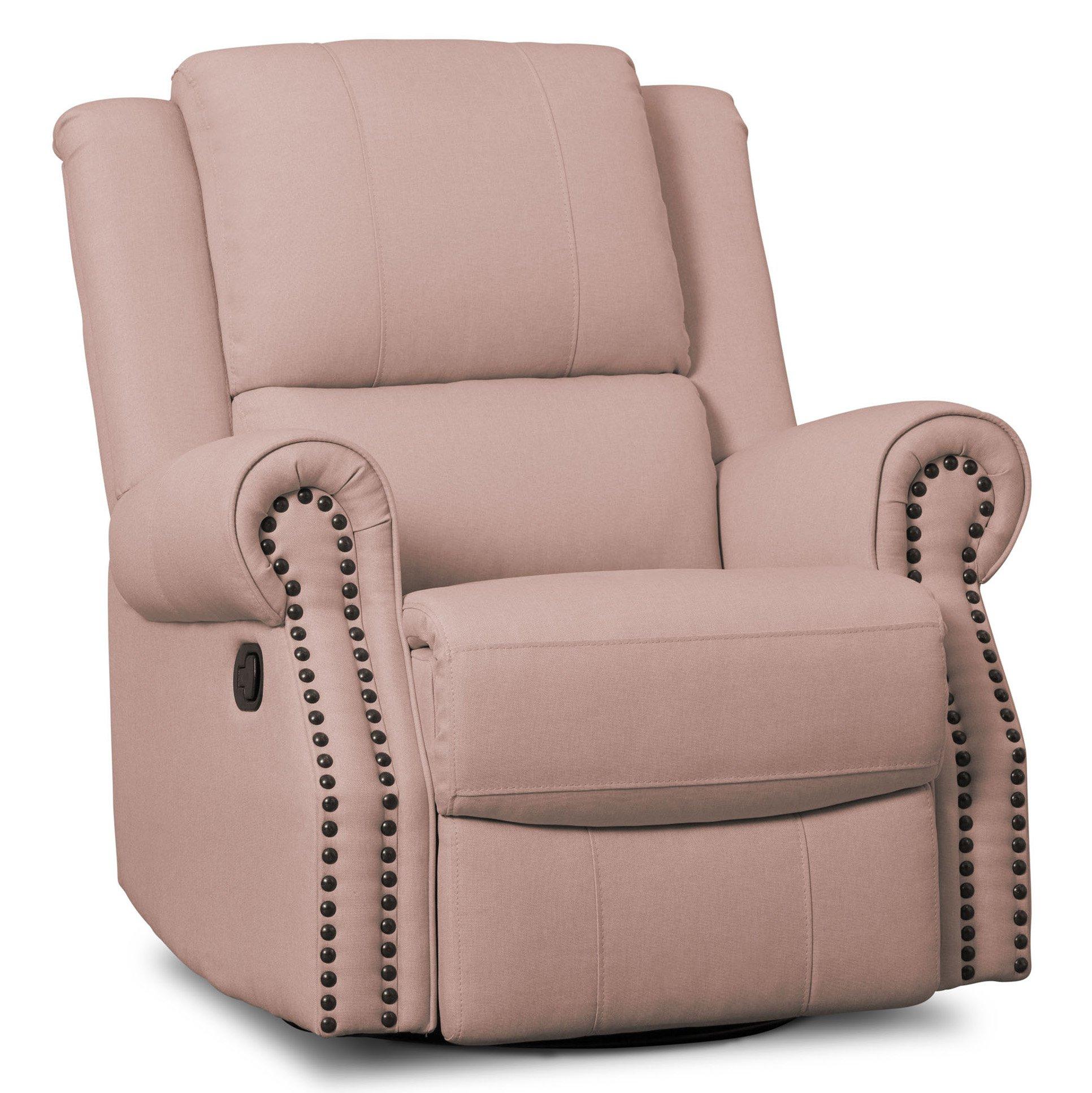Delta Children Dylan Nursery Recliner Glider Swivel Chair, Blush by Delta Children
