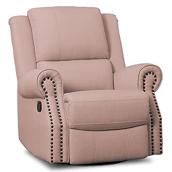 Etonnant Delta Children Dylan Nursery Recliner Glider Swivel Chair, Blush