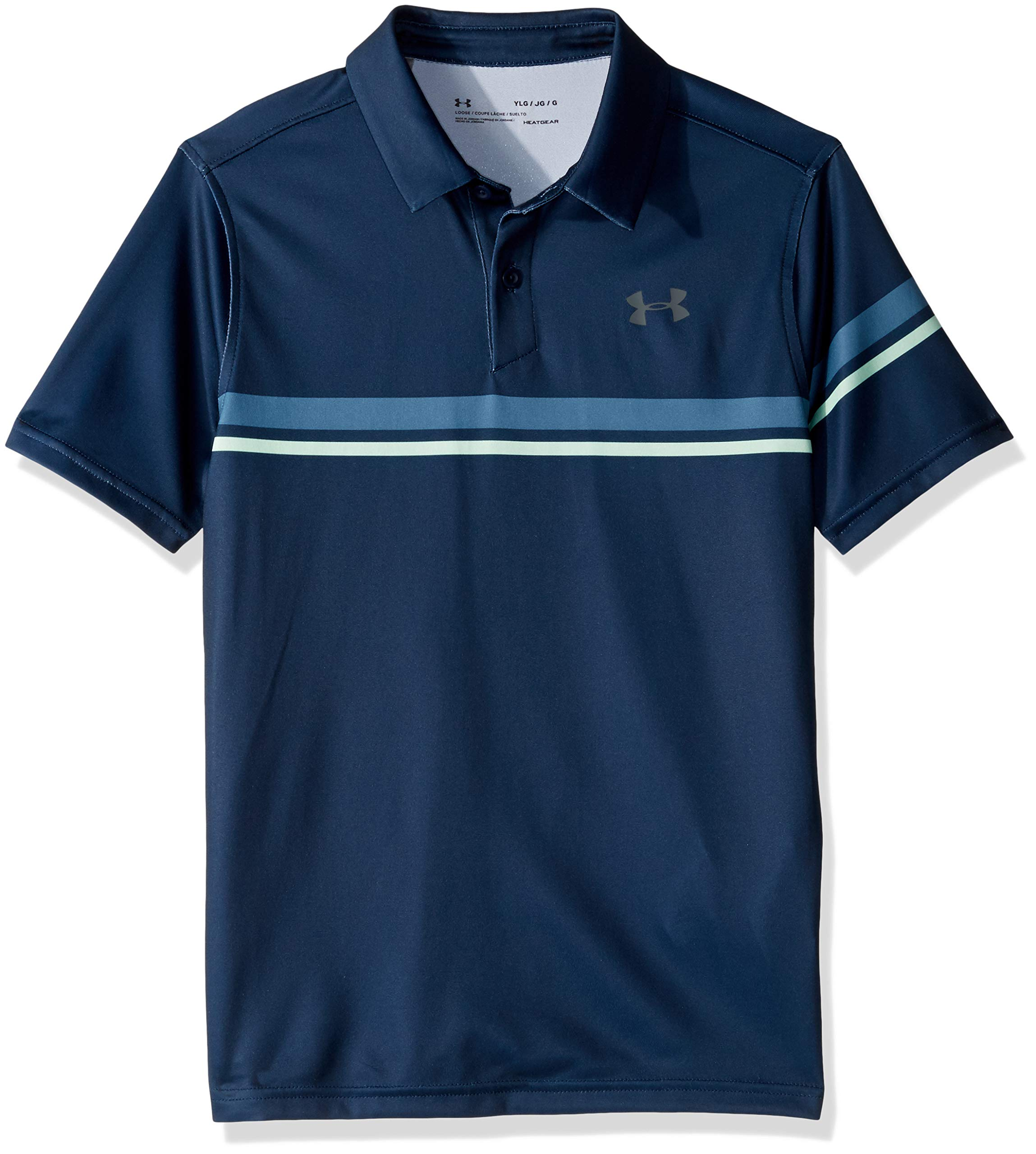 Under Armour Jordan Spieth 1st Major Sunday Polo, Academy//Pitch Gray, Youth Large by Under Armour